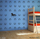 HORSE & Horseshoes Removable wall stickers Vinyl decal kids room or nursery