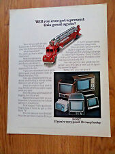1970 Sony TV Television Ad   Shows 5 Models