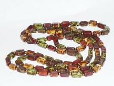 VINTAGE ANTIQUE SCOTTISH ART DECO RAINBOW AGATE NECKLACE BEAD JEWELLERY 48""