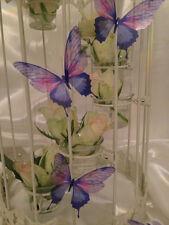 10 SPUMANTE 3D lilla e rosa farfalle wedding tavolo Candle Accessori per casa