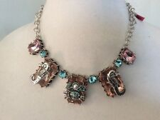 $45 Betsey Johnson Silver tone Crab & Seahorse frontal necklace (9)