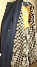 Genuine Vintage Aquascutum Navy Blue Raincoat Trench Coat Late 60's Early 70's