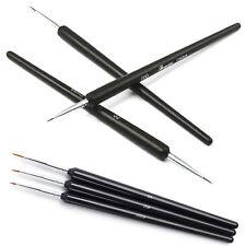 3×Black Short Thin Tiny Nail Art Design Dotting Painting Decor Pen Brush Tool PO