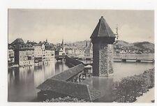 Switzerland, Luzern, Kapelibrucke und Wasserturn 1907 Postcard, A860