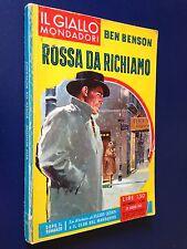 Ben BENSON - ROSSA DA RICHIAMO ,  Giallo Mondadori n. 655 (1961)