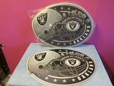 Lot 12 New Oakland Raiders football placemats party man cave gift place mat sign