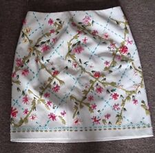 Jon Skirt 8 White Leather Embrodery Stich