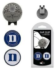 "DUKE BLUE DEVILS Golf Cap Clip with 2 Ball Markers ""MERRY CHRISTMAS"" HO HO HO"