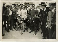 Photo Vélo Cyclisme Parc des Princes Prix Leauder Grassin Victoire Vers 1930