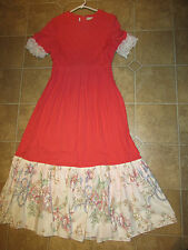 Victorian Edwardian Dickens Music Man coral dress ball gown COSTUME 10