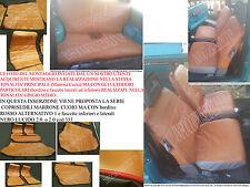 PANDA EPOCA 4x4 ,SISLEY ,750 MARRONE CUOIO bord ROSSO ALT 1 fascette NERO LUC...
