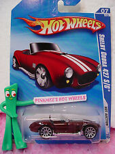 2010 Hot Wheels SHELBY COBRA 427 S/C #165/240 ☆burgundy-red/white ☆ Hot Auction