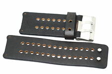 NIKE SLEDGE BROWN LEATHER REPLACEMENT RUBBER WATCH BAND WC0064