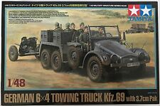 TAMIYA 32580 German 6x4 Towing Truck Kfz.69 with 3.7cm Pak 1/48 Model Kit NIB