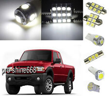 6PCS White LED Lights interior kit Package for Ford Ranger 1998 2011