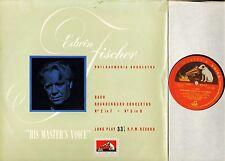 ALP 1084 R/G EDWIN FISCHER bach brandenburg concertos uk hmv mono LP EX/VG