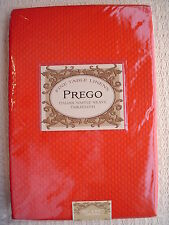 """PREGO Red Oblong 60"""" x 84"""" Tablecloth Waffle Weave Elegant for Every Occasion"""