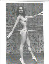 Very Young Rachel McLish Female Bodybuilding Photo B+W