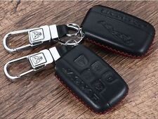 HANDMADE Jaguar Leather key chain cover case XF XJ XK XE F-TYPE F Pace fob BLK R