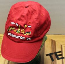 VERY NICE WASHINGTON D.C. YOUTH ADJUSTABLE HAT RED VERY GOOD CONDITION