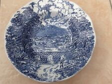 Vintage  Crown Ducal, Bridge Scenes, blue and white, soup bowl