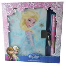 DISNEY FROZEN GLITTER ELSA OPEN DATED DIARY WITH LOCK & PEN SET BRAND NEW IN BOX