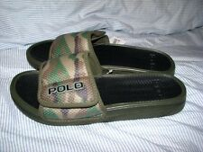 Men's POLO-RALPH LAUREN Camo Flip Flops/ Beach Shoes (10) RODLEY (Slip-Ons)