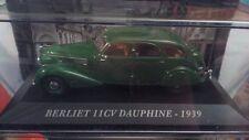 "DIE CAST "" BERLIET 11 CV DAUPHINE - 1939"" AUTO FRANCESI SCALA 1/43"