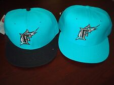 FLORIDA MARLINS NEWERA 1993  LOT 2HATS  90'S VINTAGE HAT CAP FITTED SZ 7 3/8