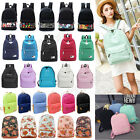 Girls Women Canvas School Bag Travel Backpack Satchel Shoulder Bag Rucksack LOT