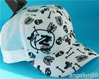 VON ZIPPER Grave Trucker Mens Boys Cap White Skulls Bones Skate Hat OneSize NEW