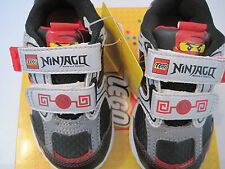 NEW BOYS LEGO NINJAGO VELCRO SNEAKERS - SIZE 6 TODDLER