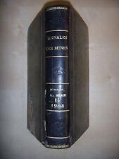 Charbon: Annales des MINES ou Recueil de mémoires sur l'exploitation, T14, 1908