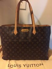 AUTHENTIC  LOUIS VUITTON WILSHIRE GM Monogram TOTE Shoulder Bag & DUST Bag