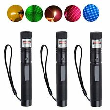 3pcs 5mW G303 Green + Red + Blue Laser Pointer Pen Adjustable Focus Burning new
