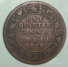 British India 1/4 Anna 1898 Rare coin