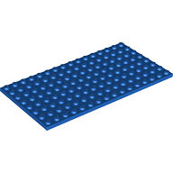 LEGO 92438 Loose Part Blue Base Plate 8x16 NEW (Thicker Version)