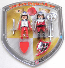 BLISTER DUO PACK RITTER LIMITED EDITION 40 Jahre Playmobil 1974 - 2014 OVP NEU !