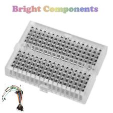 Solderless Prototype Breadboard (170 Points) + 65 Jumper Wires - Clear