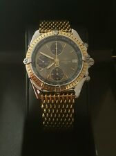Breitling Chronomat D13047 - Yellow Gold - 100% AUTHENTIC  & two (2) Bracelets