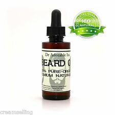 2.2 oz BAY RUM BEARD & MUSTACHE OIL Conditioner 100% Organic Treatment Natural