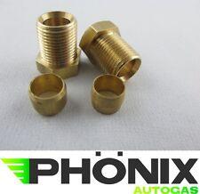 2x Autogas Schneidmutter Ø6 - M12x1- Länge: 17mm inkl.Schneidring Kupferleitung