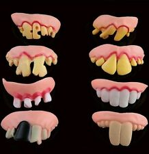 ONE ONLY Rubber Joke Teeth w/ Defects April Fool Fake Costume Party Fancy Trick