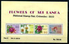 Sri Lanka 2010 blocco 18 i fiori scritta COLOMBO ** KW € 40 RAR