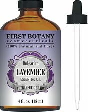 Bulgarian Lavender Essential Oil with a Glass Dropper - Big 4 fl. oz (BRAND NEW)