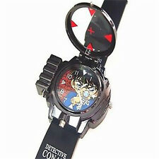 Detective Conan Infrared Glass Red Light Laser Analog Boy Wrist Watch LA