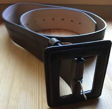 NEW YORK & COMPANY Brown Genuine Leather Wide Belt
