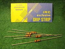 (1) 5 Pack IRC Carbon Comp 30K OHM 1/2 Watt 5% Resistors NOS