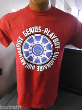 Mens Licensed Tony Stark Iron Man Billionaire Philanthropist Genius Shirt New M