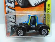 MATCHBOX 2013 MBX 1:64 Construction TRACTOR PLOW #37 Blue Diecast Car